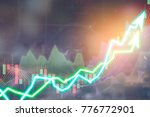 stock market digital graph... | Shutterstock . vector #776772901