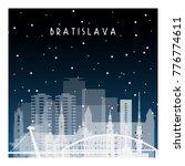 winter night in bratislava....   Shutterstock .eps vector #776774611