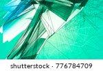 polygonal aquamarine background.... | Shutterstock . vector #776784709