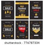 christmas sale banner template...   Shutterstock .eps vector #776787334