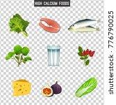high calcium foods. fresh fish  ... | Shutterstock .eps vector #776790025