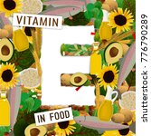 foods containing vitamin e... | Shutterstock .eps vector #776790289