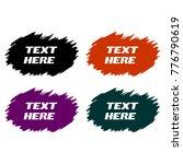 brush stroke text frame | Shutterstock .eps vector #776790619