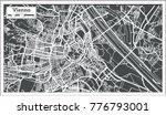 vienna austria map in retro... | Shutterstock .eps vector #776793001