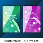 modern vector abstract brochure ... | Shutterstock .eps vector #776795125