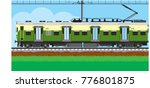 indian local train | Shutterstock .eps vector #776801875