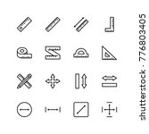 measure icon set. collection of ...