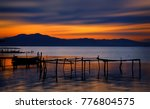 sunrise at the fishing docks of ... | Shutterstock . vector #776804575