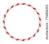 candy cane circle frame for...   Shutterstock .eps vector #776806201