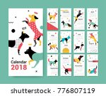 template calendar 2017 with a... | Shutterstock .eps vector #776807119