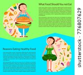 weight loss concept. fat woman... | Shutterstock .eps vector #776807629
