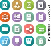 flat vector icon set   search... | Shutterstock .eps vector #776807725