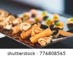 beautifully decorated catering... | Shutterstock . vector #776808565