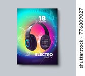 electronic music festival... | Shutterstock .eps vector #776809027