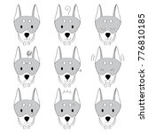 actions  cartoon cute doberman... | Shutterstock .eps vector #776810185