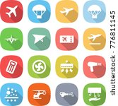 flat vector icon set   plane... | Shutterstock .eps vector #776811145