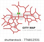 abstract city map   town...   Shutterstock .eps vector #776812531