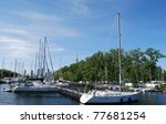 Toronto Islands's Boats in Canada - stock photo