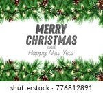 winter holiday background.... | Shutterstock .eps vector #776812891