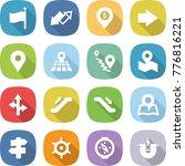 flat vector icon set   flag... | Shutterstock .eps vector #776816221