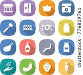 flat vector icon set   market... | Shutterstock .eps vector #776819761
