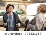 classy women  two friends ... | Shutterstock . vector #776821357