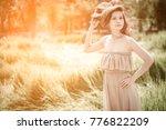 asian women in summer with... | Shutterstock . vector #776822209