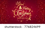 christmas and new year... | Shutterstock .eps vector #776824699