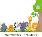 illustration of different... | Shutterstock .eps vector #77683024