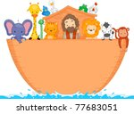 Illustration Of Animals Aboard...