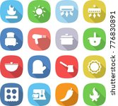 flat vector icon set  ... | Shutterstock .eps vector #776830891