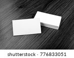 mockup of white business cards... | Shutterstock . vector #776833051