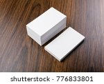 mockup of white business cards... | Shutterstock . vector #776833801