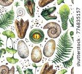 prehistoric watercolor... | Shutterstock . vector #776835157