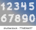 white cloudy numbers over blue... | Shutterstock .eps vector #776836657