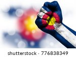 Small photo of State of Colorado on fist