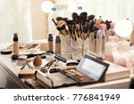 professional makeup products... | Shutterstock . vector #776841949