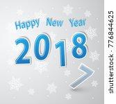 happy new year 2018  vector...   Shutterstock .eps vector #776844625