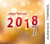 happy new year 2018  vector...   Shutterstock .eps vector #776844631