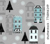christmas seamless pattern.... | Shutterstock .eps vector #776846149