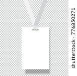 blank name tags mockup. vector... | Shutterstock .eps vector #776850271