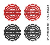 guaranteed stamp icon vector | Shutterstock .eps vector #776850685