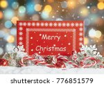 christmas gift box and... | Shutterstock . vector #776851579