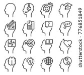 human mind icons  thin line... | Shutterstock .eps vector #776851849