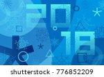 winter sports games in... | Shutterstock .eps vector #776852209