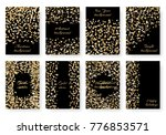 a set new year's brilliant... | Shutterstock .eps vector #776853571
