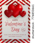 happy valentine's day party... | Shutterstock .eps vector #776853661