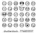 modern outline style emoji... | Shutterstock .eps vector #776855557