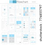 ui ux flowchart infographic... | Shutterstock .eps vector #776855797