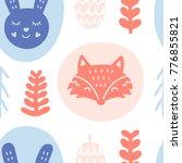 scandinavian forest animals.... | Shutterstock .eps vector #776855821